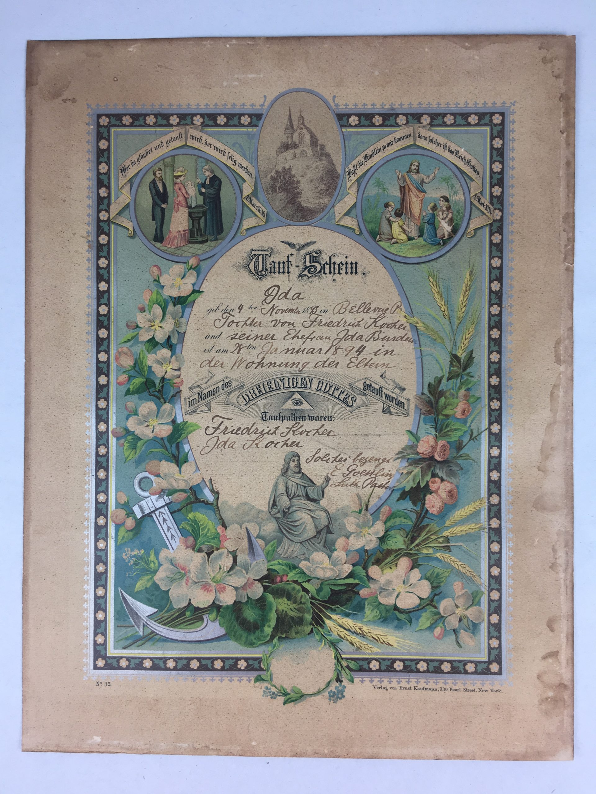 Do You Have a Historic Baptismal Certificate That Requires Repair?